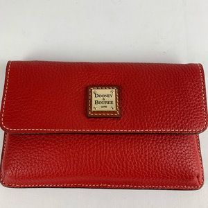 Dooney & Bourke Milly Pebble Leather Wristlet Red